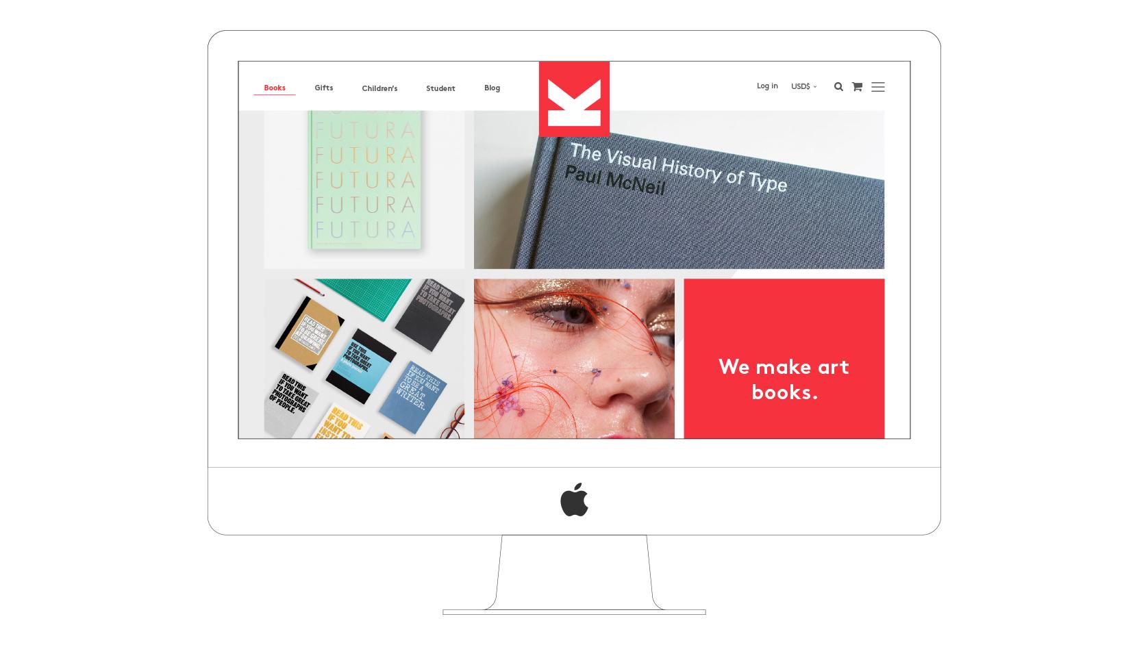 Laurence King website desktop visual books section