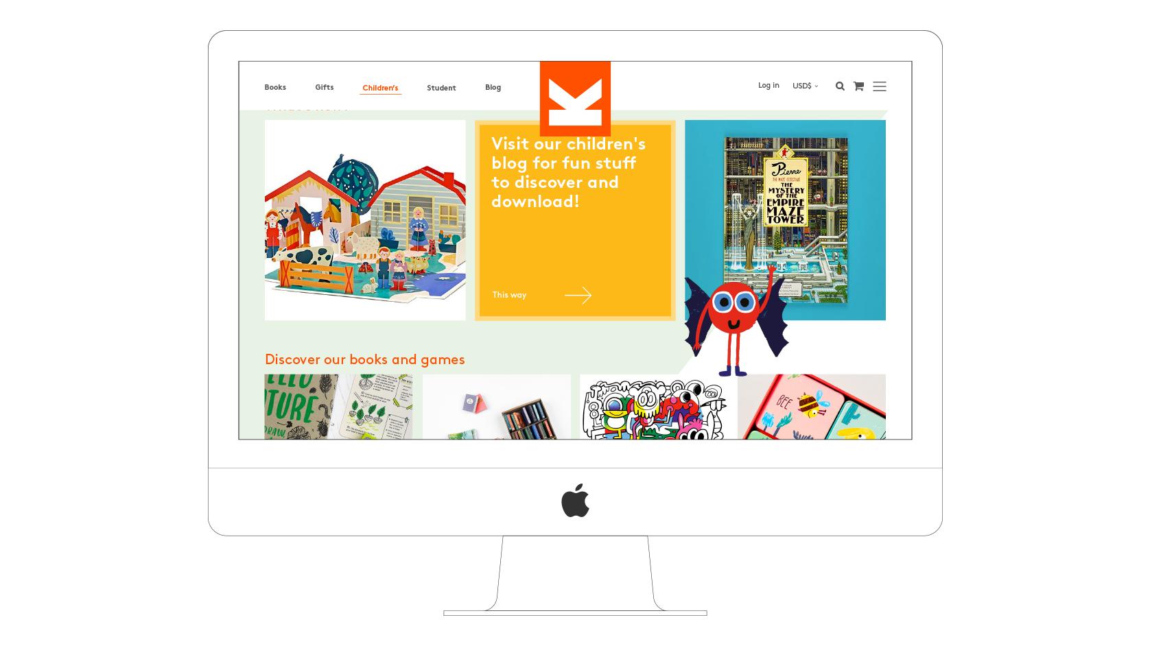 Laurence King website desktop visual Childrens section