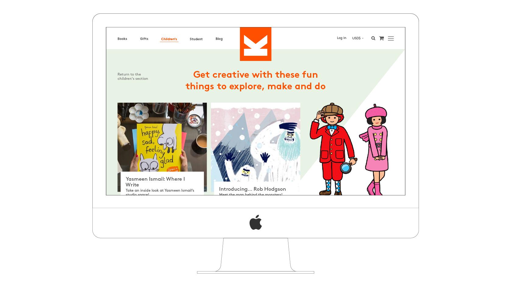 Laurence King website desktop visual Childrens blog