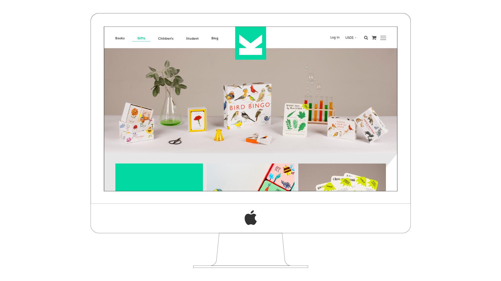 Laurence King website desktop visual gifts section