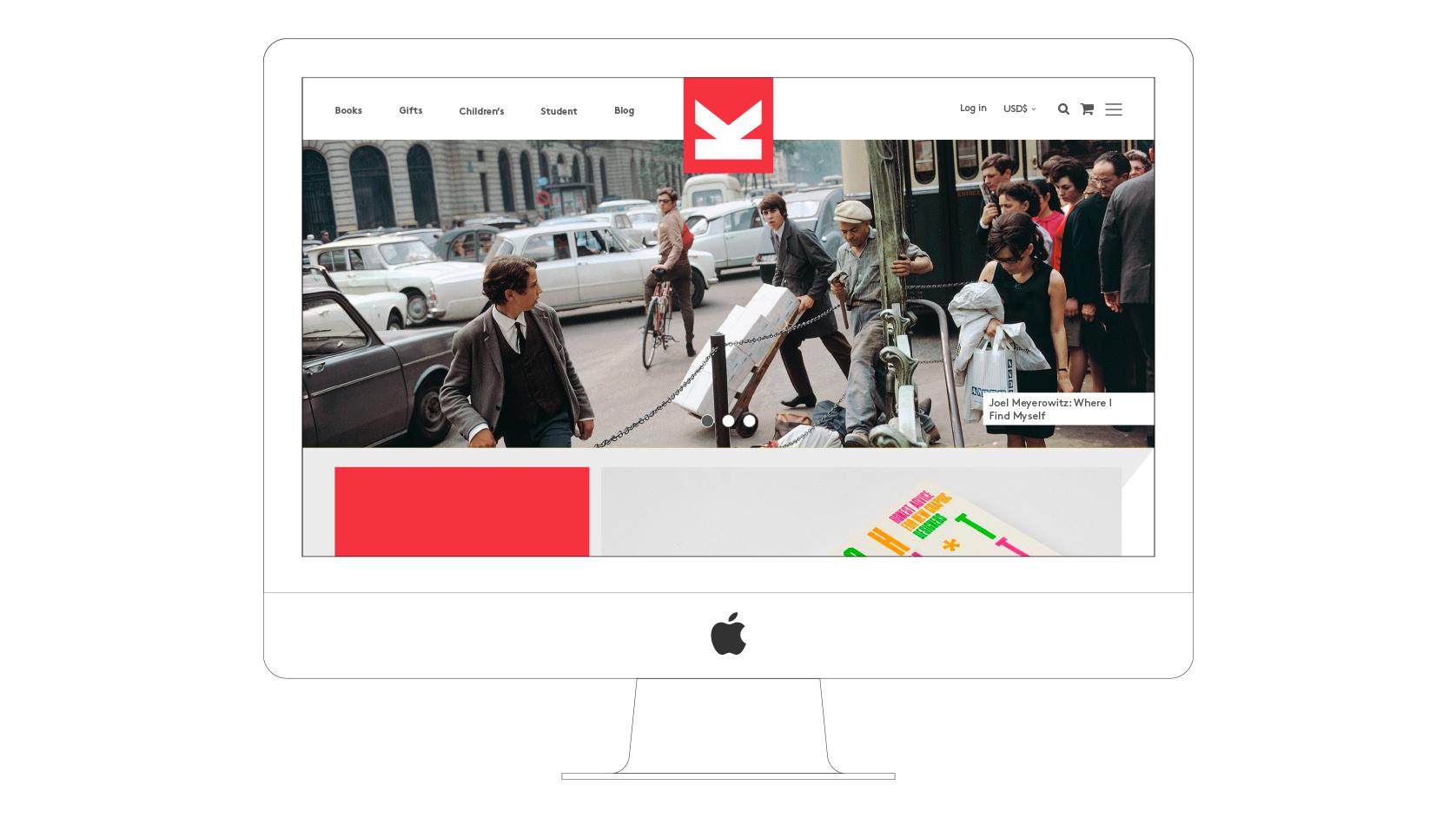 Laurence King website desktop visual Home page