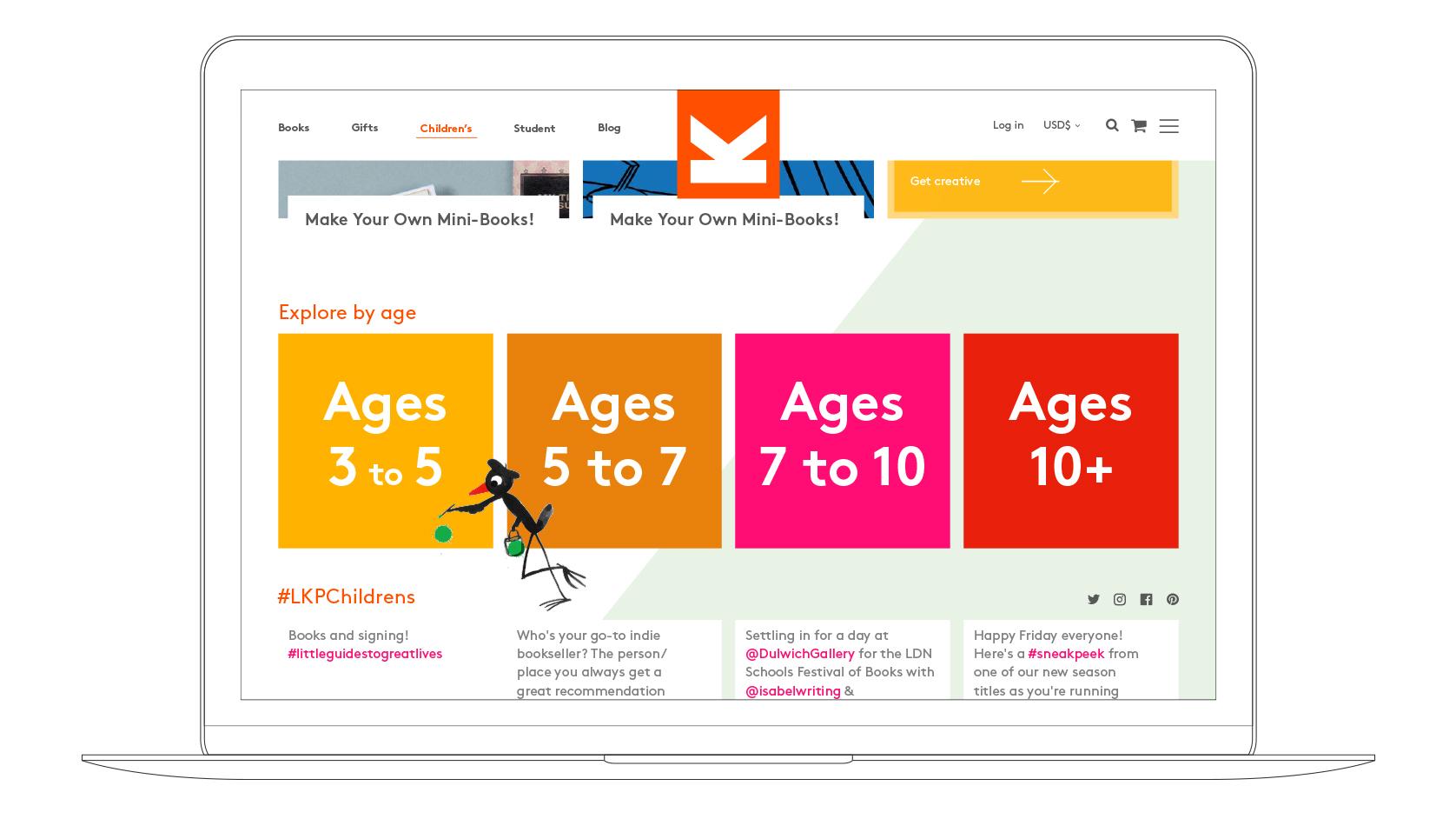 LKP website Laptop visual childrens section