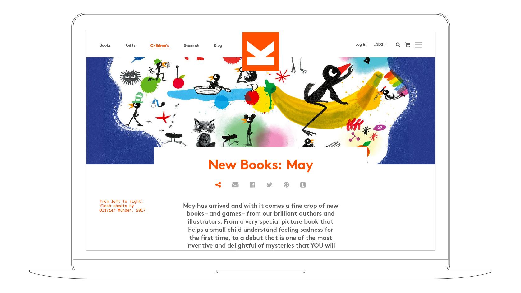LKP website Laptop visual childrens blog