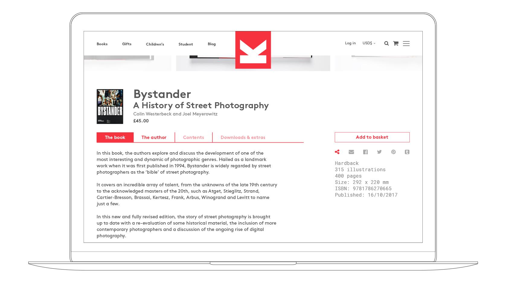 LKP website Laptop visual shop page product