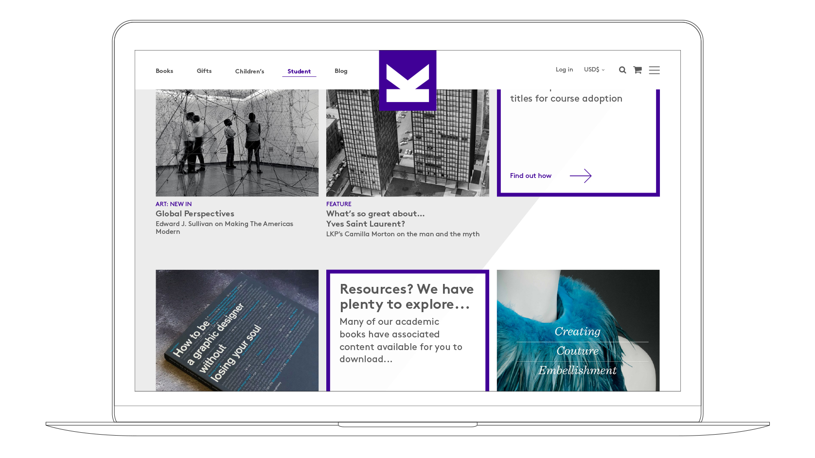 LKP website Laptop visual student section